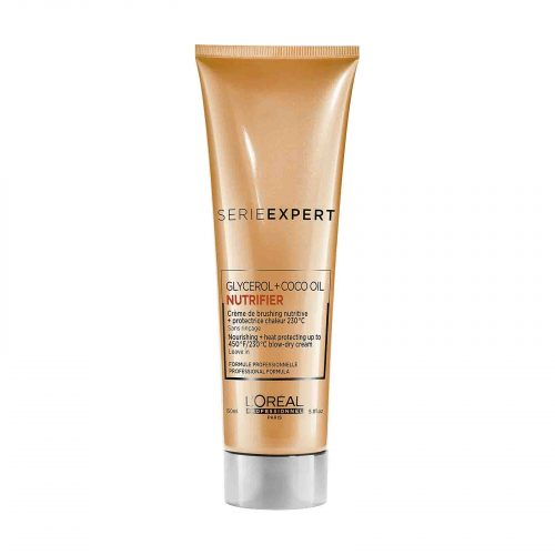 goedkoop online L'Oréal Professionnel Serie Expert Nutrifier hittebeschermende thermo crème 150ml kopen voor droog haar KappersOutlet