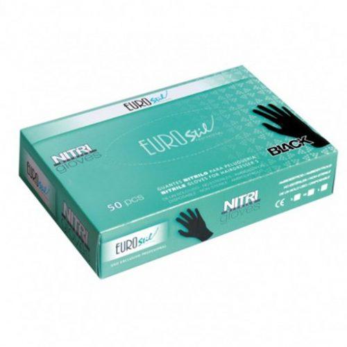 Eurostil - Nitri Handschoenen Zwart Medium large kappersoutlet